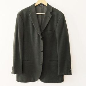 Hugo Boss Dark Green 100% Wool Blazer